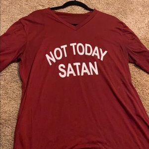 Funny shirt not today Satan shirt